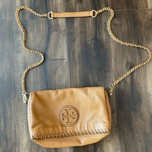 Tory Burch fold over crossbody purse